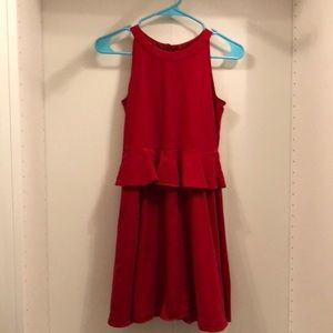 Other - Red Ruffled Kate Spade Dress